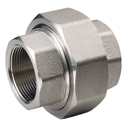 Merit Brass 487B-16 Class 1000 Stainless Steel 304 Barstock Pipe Fitting, Union, 1
