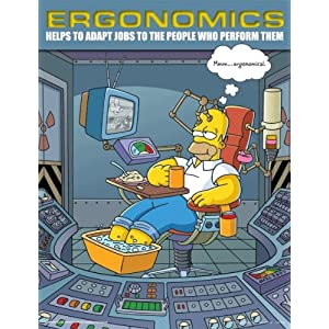 Simpsons Ergonomics Safety Poster - Adapt Jobs To The