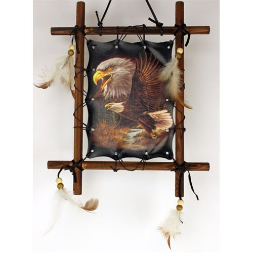 Framed Indian EAGLES Picture Native American Art 9 x 11 (including frame) Reproduction
