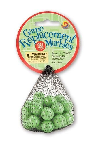 Mega Marbles Replacement Game (30 Piece), Green, 14mm - 1