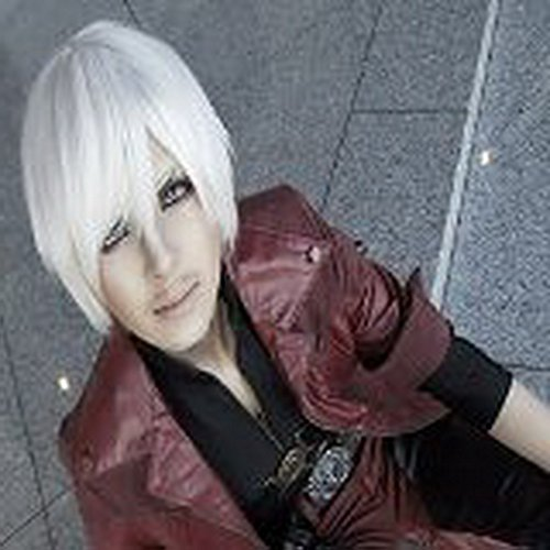 Xcoser DMC Cosplay Dante Short Sliver White Cosplay Wig for Halloween