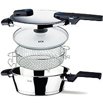 Fissler Vitaquick Pressure Pan Set  Steel
