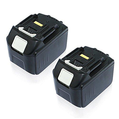 Efluky 2Confezione da 18V 5500mAh Li-ion Batteria di Ricambio per Makita 1830194205-3LXT-400BL1830BL1815BL1835(5500mAh)