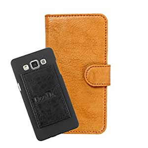 DooDa PU Leather Wallet Flip Case Cover With Card & ID Slots For InFocus M350 - Back Cover Not Included Peel And Paste