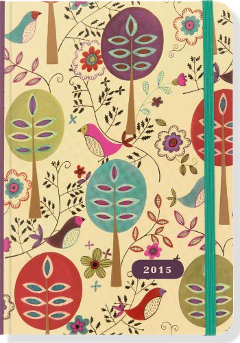 2015 Folk Art Birds Weekly Planner (16-Month Engagement Calendar, Diary)