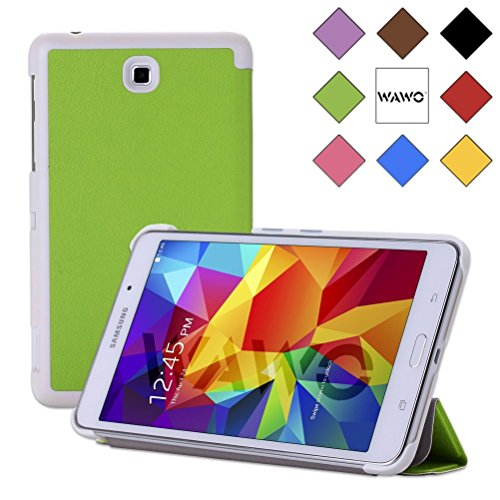 Wawo Creative Tri-Fold Cover Case For Samsung Galaxy Tab 4 7.0 Inch Tablet - Green front-217565