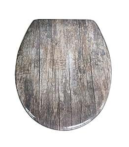 eisl duroplast wc sitz mit absenkautomatik und schnellverschluss old wood baumarkt. Black Bedroom Furniture Sets. Home Design Ideas