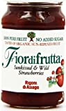 Fiordifrutta Organic Sunkissed and Wild Strawberries Pure Fruit Spread 260 g (Pack of 3)