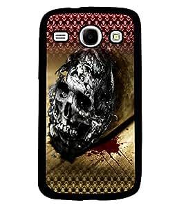 PRINTVISA Pattern Skull Premium Metallic Insert Back Case Cover for Samsung Galaxy Core - I8260 / I8260 - D5692