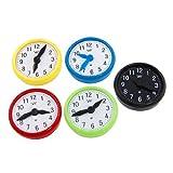 5 Pcs Five Color Decor Clock Shape Fridge Magnetic Stickers