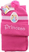 Disney Princess - Aurora, Belle, and Cinderella - Knit Ski Hat and Scarf for Kids
