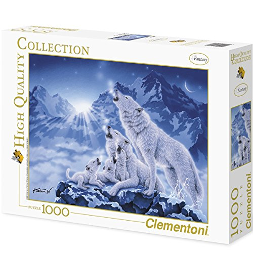 High Quality Colection 1000 Teile Puzzle - Wolfsrudel | 69x50cm Tiere Wolf Landschaft Puzzel Spaß
