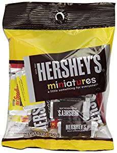 Hershey's Miniatures Assortment, 5.3-Ounce Bags (Pack of 12)