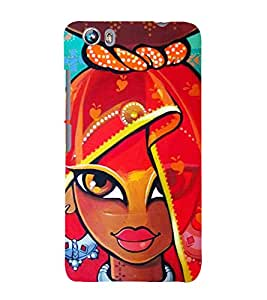Village Girl Painting 3D Hard Polycarbonate Designer Back Case Cover for Micromax Canvas Fire 4 A107