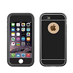 Waterproof Case for iPhone 5s, Merit Noble Series Waterproof Shockproof Snowproof Dustproof Full Sealed Ultra Slim Protective Case Durable Cover for Apple iPhone 5/5s/5SE (Black)