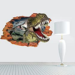 Dinosaur Jurassic Park 3D PVC Wall Sticker Kids Bedroom Mural Wallpaper Decor