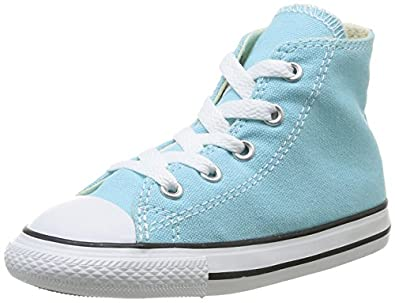 Converse Chuck Taylor All Star Hi, Baskets mode mixte enfant - Turquoise, 20 EU