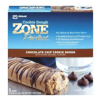 Zone Perfect Nutrition Bars, Chocolate Chip Cookie Dough, 7.9 Oz (Pack Of 2)