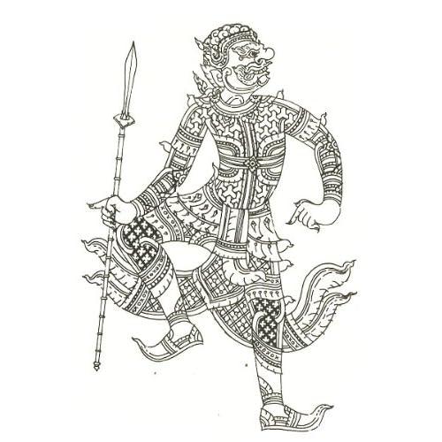 Amazon.com: Thai Hanuman Temporary Tattoos