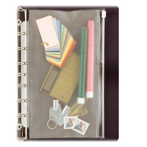 Day-Timer Vinyl Zip Pouch, Desk Size, 5.5 X 8.5 Inches, Clear (D87219B) front-212126