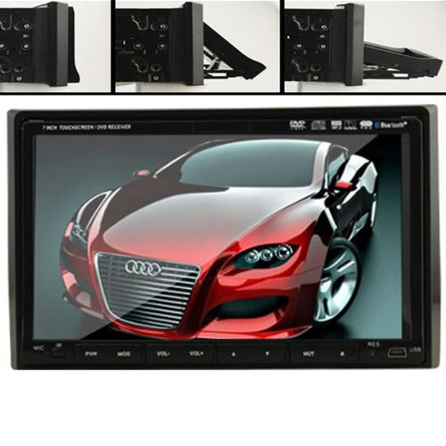 """Ouku Double 2 Din In Dash 7"""" Car Stereo Radio Dvd Player Ipod Bluetooth Tv Mic Mp3 Sd Usb Rds"""