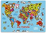 Vilac World Magnetic Map in French