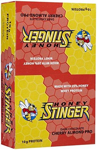 Honey Stinger Dark Chocolate Cherry Almond 10g Protein Bar, 1.5 Ounce ...