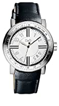 Mens Watch Dolce and Gabbana DW0483 Stainless Steel Case Leather Bracelet Silve