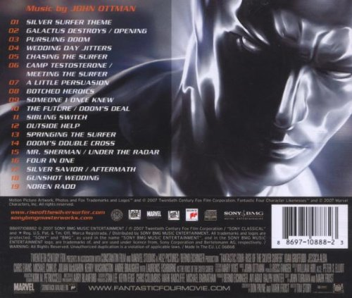 Original album cover of Fantastic Four: Rise of the Silver Surfer - Original Motion Picture Soundtrack by John Ottman