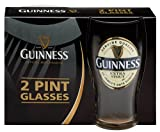 "Guinness 2011 ""New Label"" Extra Stout Tulip Pint Glasses (2 Pack) - Official Licensed Merchandise"