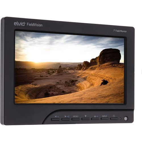 """Elvid Fieldvision 7"""" Dslr On-Camera Lcd Monitor Hdmi/Vga Inputs With Canon Bp-511A Battery Plate And Charger"""