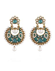I Jewels Tradtional Gold Plated Elegantly Handcrafted Pair Of Fashion Earrings For Women. - B00N7INSZG
