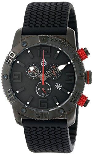 Burgmeister BM521-622E - Reloj analógico de cuarzo para hombre con correa de silicona, color negro