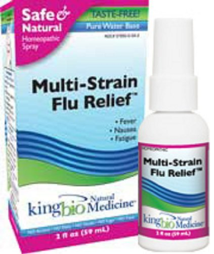 King Bio Natural Medicine Homeopathic Remedies for Multi-Strain Flu Relief, 2 Fluid Ounce