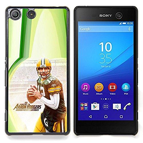 - Aaron Rodger 12 NFL - - Copertura della cassa impatto con Art Pattern Design FOR Sony Xperia M5 Queen Pattern