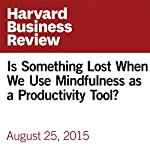Is Something Lost When We Use Mindfulness as a Productivity Tool? | Charlotte Lieberman