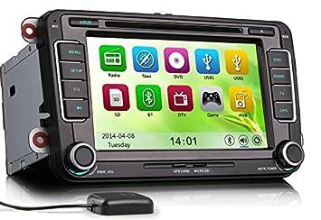 mgnav mg7798V VW (17,7cm (7pouces) Système de navigation multimédia Autoradio 2DIN, DVB-T, DVD, DVR, BT, USB, SD, GPS, OBD, PDC)