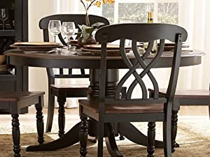 48 Ohana Round Dining Table Black By