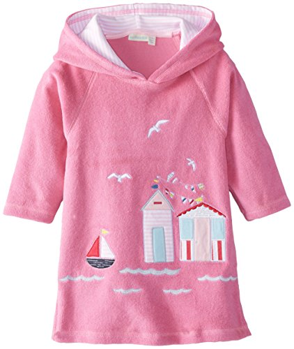 Jojo Maman Bebe Baby Girls' Toweling Hooded Pull On, Orchid, 12 24 Months