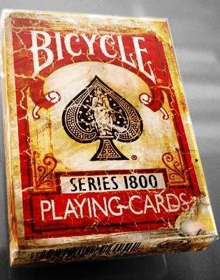 Buy Bicycle 1800 Vintage Series Playing Cards by Ellusionist (RED)
