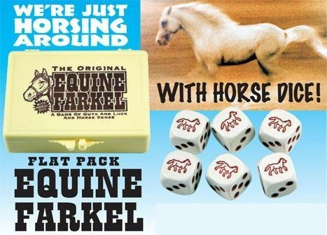 Farkel Flat Pack Equine Horse Dice by Legendary Games