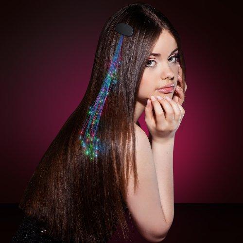 Multicolor Led Light Hair Sparkle Clip Extensions