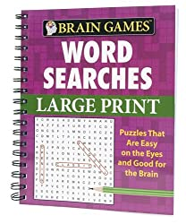 Brain Games Large Print Word Searches #1