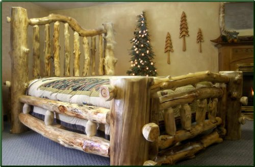 King Size Majestic Aspen Log Bed