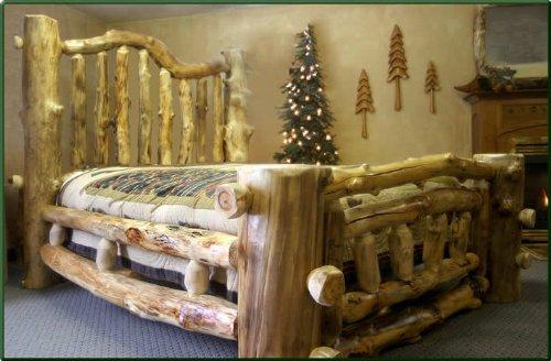 king size majestic aspen log bed bedroom sets