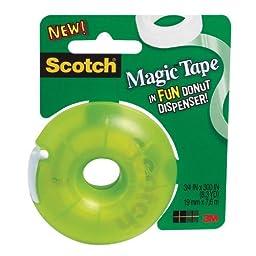Scotch Magic Tape with Donut Dispenser, 300\