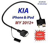 KIA 2012+ 30 pin iPods, iPhone 3gs 4 4s Cable USB 3.5mm Forte / Optima / Soul / Rio / Rondo / Sedona / Sorento / Sportage supplied by cablesnthings