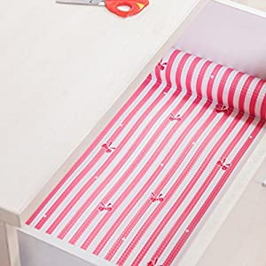 Wrone (TM) Antibacterial 4 Colors Stripe Moisture Pad of Paper Self-adhensive Anti-oil Mats Wallpaper for Drawer Kitchen 30x300cm D82 from Wrone