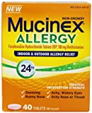Mucinex Adult 24 Hour Allergy Tablets, 40 Count