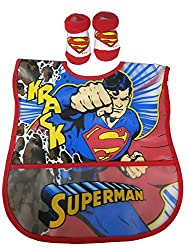 Disney Superman Infant Waterproof Bib and Bootie Set [5011]